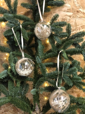 Neutral Dried Baubles (Set of 3)